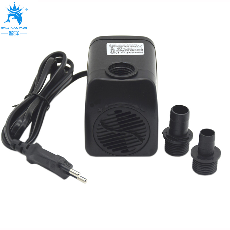 Aquarium Fountain Water Pump 220V 240V 20W 1000L/H Fountain Air Fish Tank Aquarium Water Submersible Pump for pond decoration