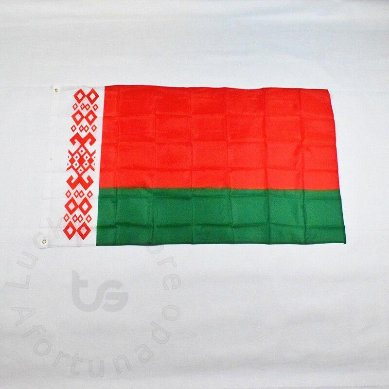 Bělorusko 90 * 150 cm Banner Doprava zdarma pro splnění Parade party Hanging National flag Belarus Dekorace banner