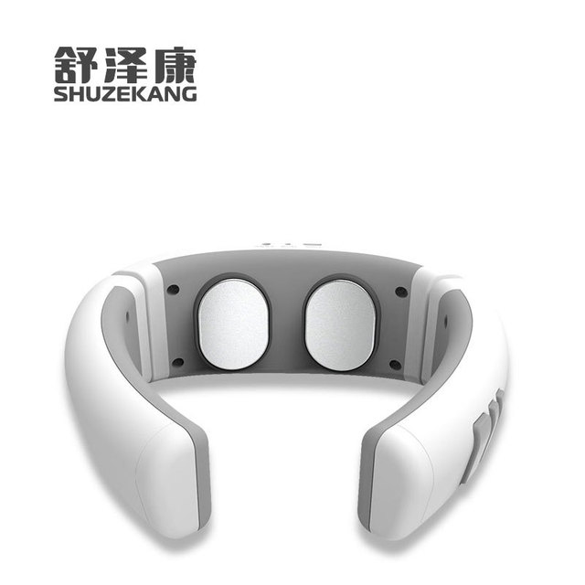 Free shipping Intelligent portable cervical massager electromagnetic pulse hot charging cervical massager in Massage Relaxation from Beauty Health