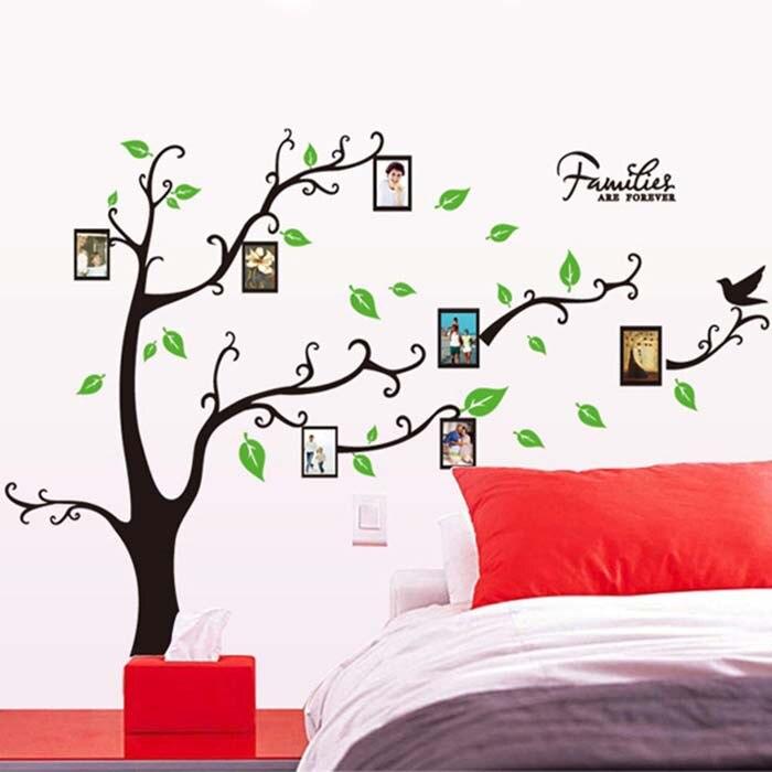ᐅ1 Unidades familia foto Marcos árbol pared cita arte Adhesivos ...