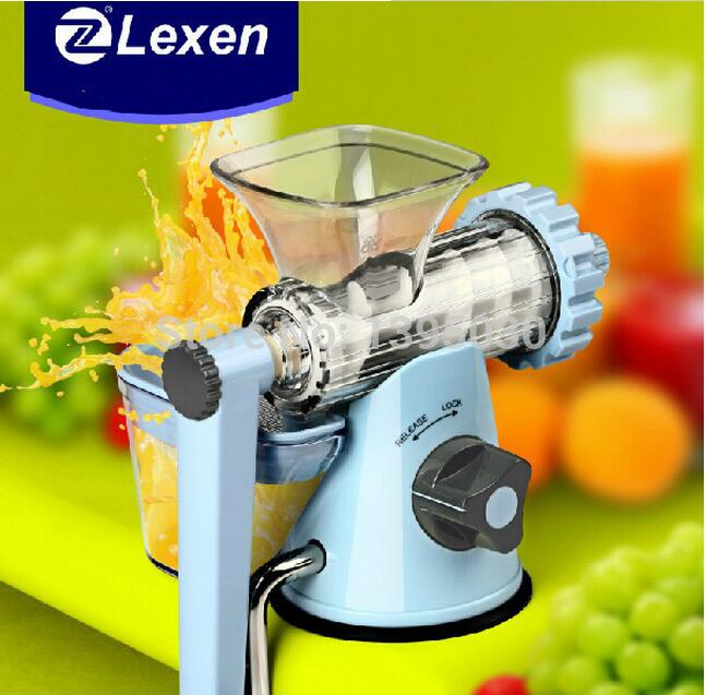 Latest Manual Lexen Wheatgrass juicer/Healthy Fruit Juicer machine 1 set healthy manual juicer for wheatgrass and fruits