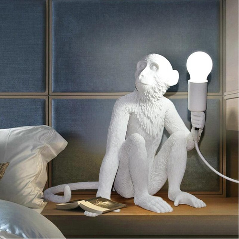 Nordic designer Monkey Table Lamp personality simple study bar industrial retro wind artist desk table light-in LED Table Lamps from Lights & Lighting