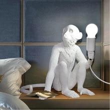 Nordic designer macaco lâmpada de mesa personalidade simples barra estudo industrial retro vento artista mesa luz