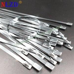 Image 1 - Металлический кабель из нержавеющей стали S201, 100 шт., ширина шнура 7,9 мм, ремешок на молнии, блокировка выхлопной трубы, штырь 150 мм 700 мм 400 мм 450 мм 500 мм