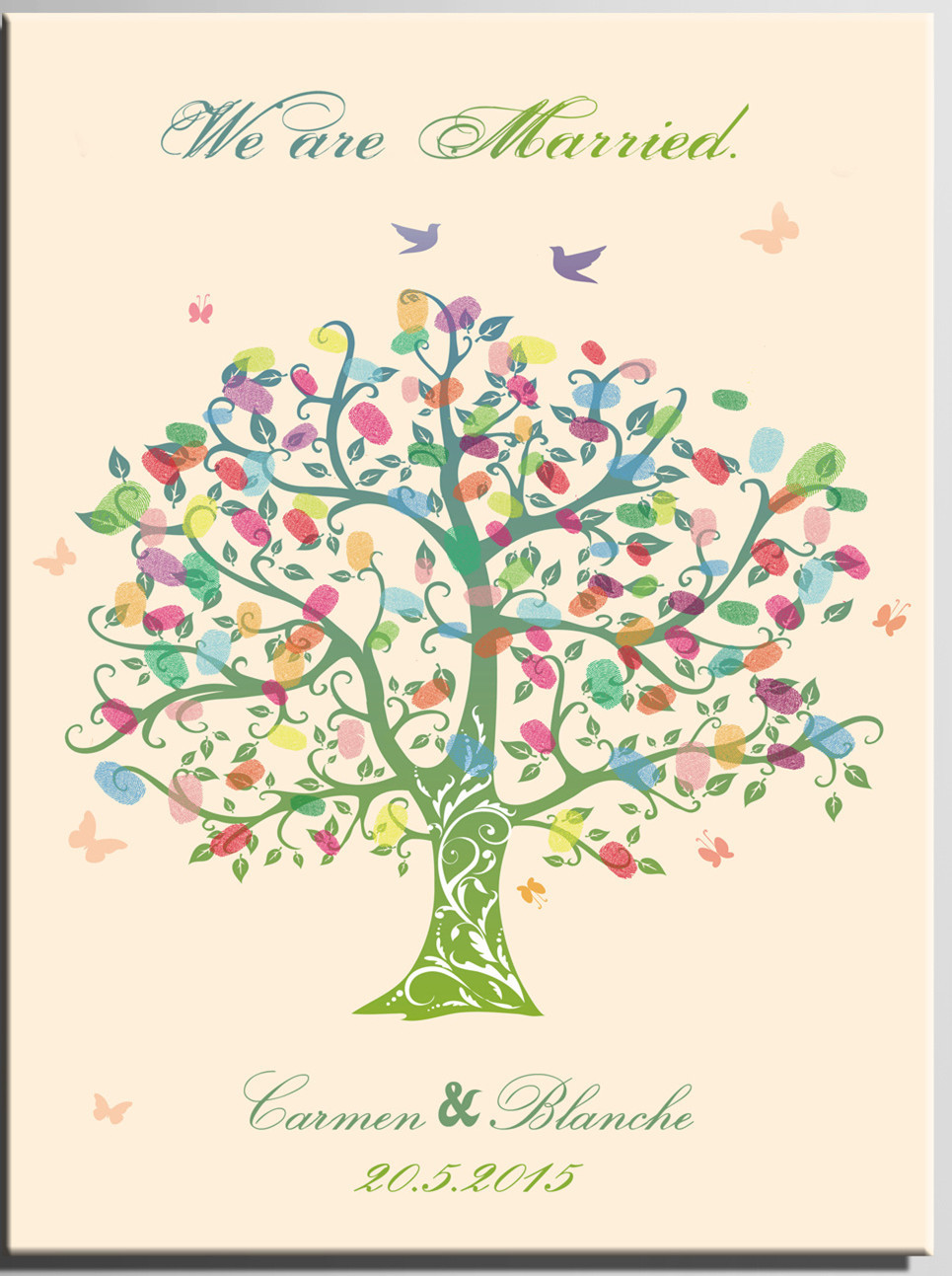 DIY Wedding Signature Book Personalized Wedding Fingerprint Tree ...