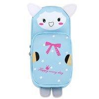 1PC Korean Cartoon Animals PU Leather Cat Rabbit Panda Pencil Case Waterproof Pencils Bag Stationery Student Supplies