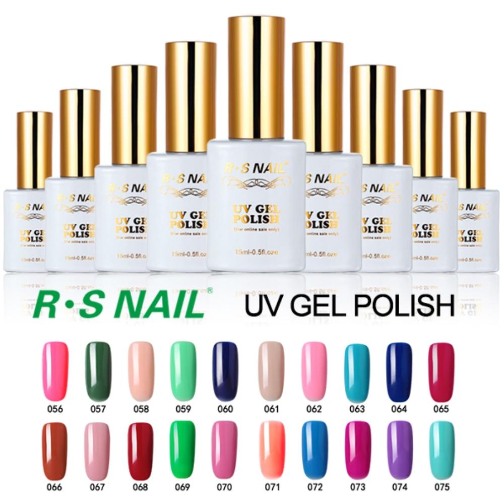R S 15ml New Soak Off Uv Color Gel Nail Polish Set Unhas De Gel Lucky Gel Nail Polishes