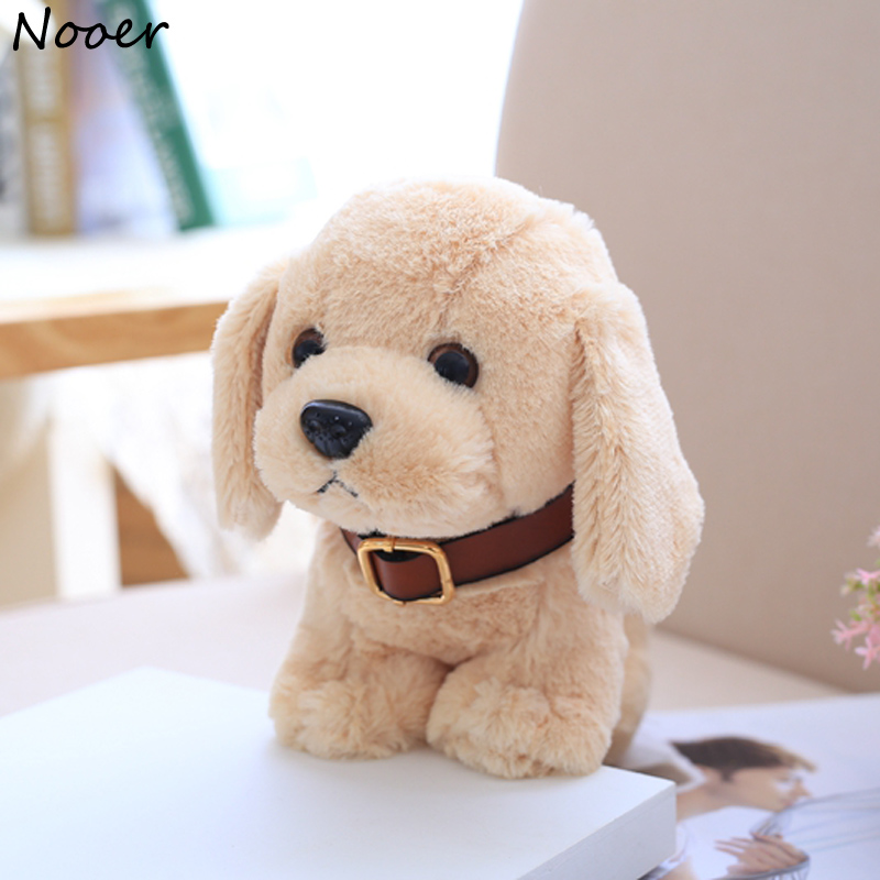 Nooer Kawaii Soft Dog Plush Toys For Children Kids Cute Baby Appease Fluffy Dog Stuffed Plush Doll Kids Toy Friend Gift 1pcs 22cm fluffy plush toys white eyebrows cute dog doll sucker pendant super soft dogs plush toy boy girl children gift