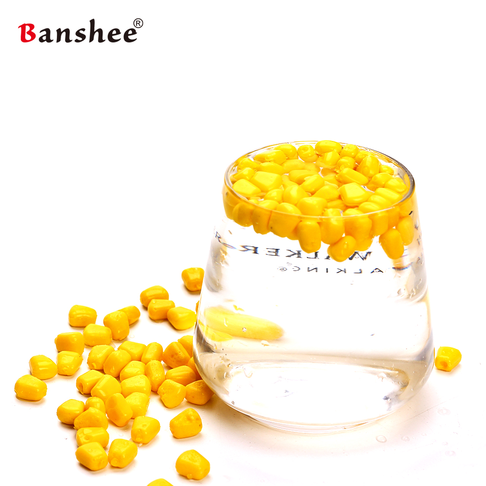 Banshee 100Pcs/Lot 42grams 4 colors Soft Baits Corn Fishing Lures Baits With the Smell of Baits Corn grain baits prescription drug