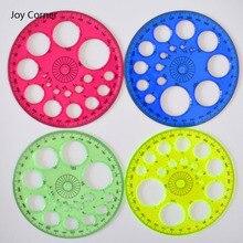 Дешевые Правитель выстегивая поставок (4 шт./лот) рисунок шаблон 360 градусов круг мини измерения инструмент круг измерительная шкала радость углу