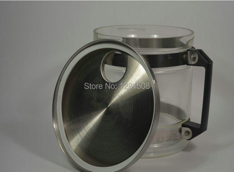 Certificato CE distillatore D'acqua In Acciaio Inox depuratore di acqua con vaso di vetro e corpo in acciaio - 2