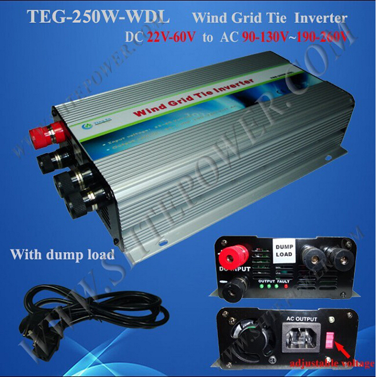 single phase wind power system dc to ac 230v 48v grid tie inverter 250w
