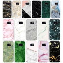 273H marble green stone Soft TPU Silicone Cover Case for