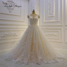 Amanda Chen Design Cap Sleeve A-Line Wedding Dress 2019