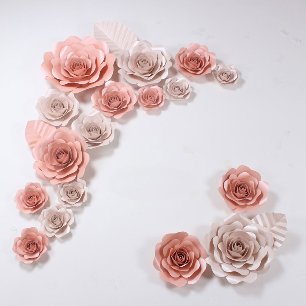 Compare prices on decorative large paper flowers online shopping 15cm paper flower party christmas wedding decoration large artificial paper flowers romantic party paper flower dhlflorist Image collections