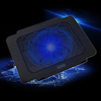 Laptop Cooler Cooling Pad Base Big Fan USB Stand For 14 Inch LED Light Notebook-PC Friend laptop cooler cooling pad base big fan usb stand for 14 inch led light notebook drop ship