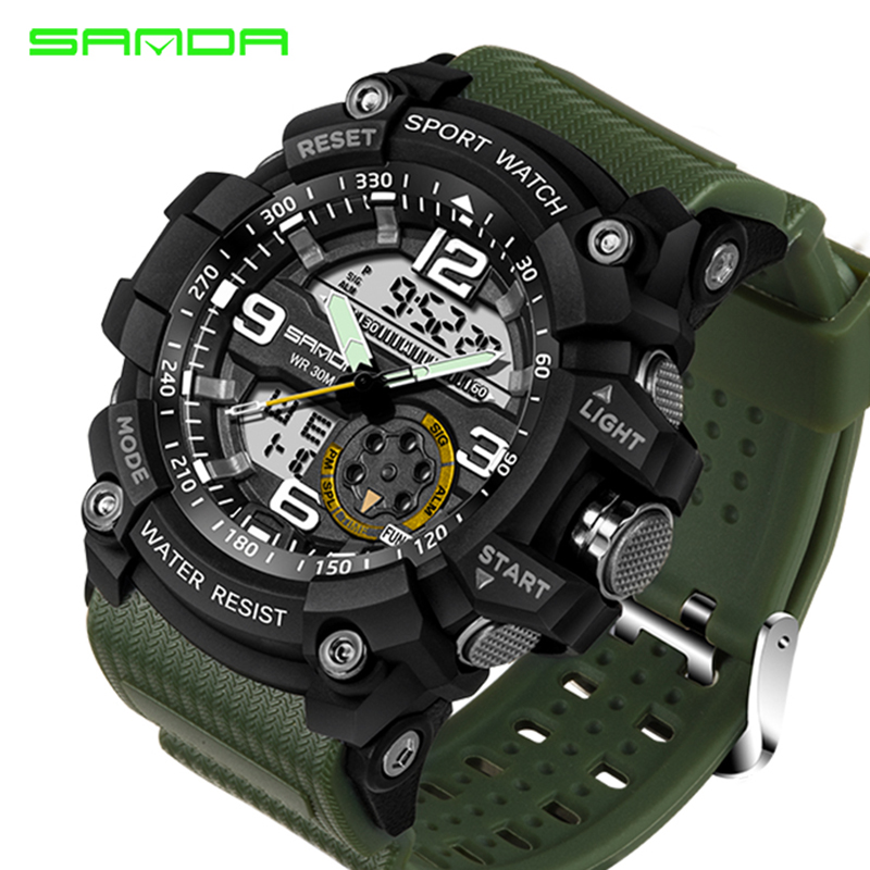 SANDA Sport Watch Men 2018 Clock Male Digital Quartz Wrist Watches Men's Top Brand Luxury Digital-watch Relogio Masculino Saat dropshipping boys girls students time clock electronic digital lcd wrist sport watch relogio masculino dropshipping 5down