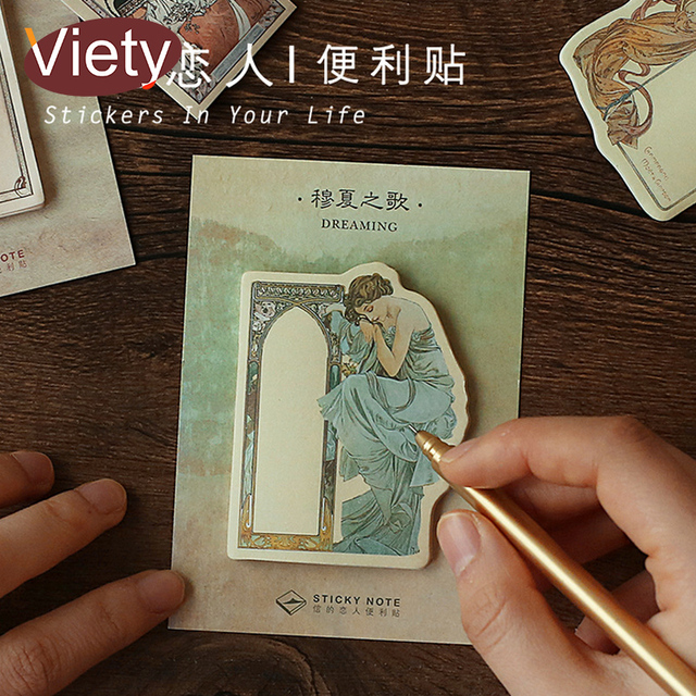 4 Pcs/Lot Vintage Sculpture goddess memo pad planner sticky note paper sticker kawaii stationery pepalaria 30Sheet