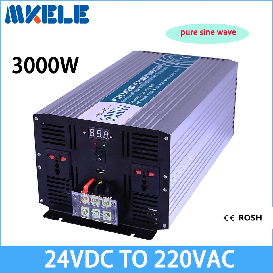 цена на MKP3000-242 dc ac off grid solar inverter 3000w 24v to 220v power inverter pure sine wave voltage converter
