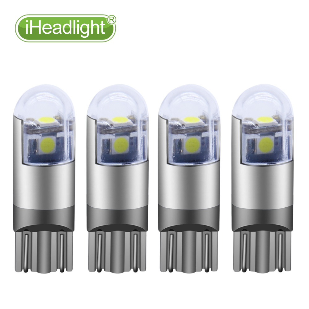 4PCS W5W T10  3smd led car dome light Car 194 168  Bulb Lamp Side Wedge Interior Parking External Lights DC12V/24V Side marker carprie super drop ship new 2 x canbus error free white t10 5 smd 5050 w5w 194 16 interior led bulbs mar713