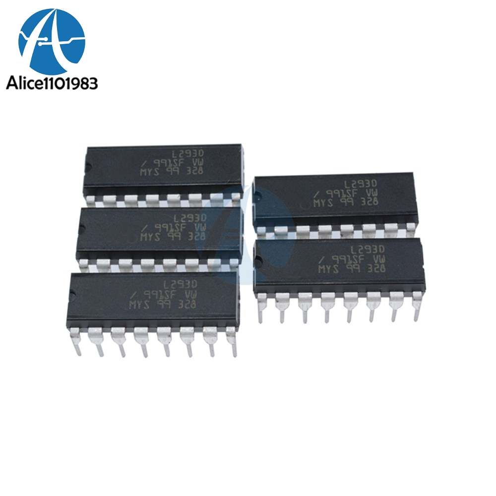 1pcs L293d L293 293 Dip 16 Stepper Driver Chip Ic 100 New In Integrated Circuits Bta16600b St View 10pcs Drive Motor Par Push Pull 4 Four Channel Module