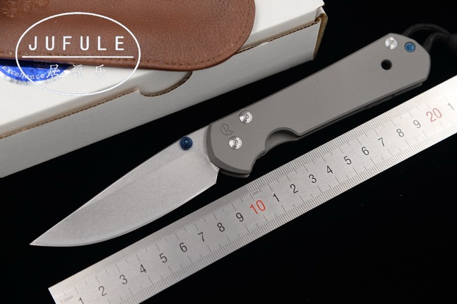 JUFULE Large Sebenza 21 Folding S35vn TC4 Titanium Handle Cleaver Utility  Fruit Paring Camp Survive Hunt