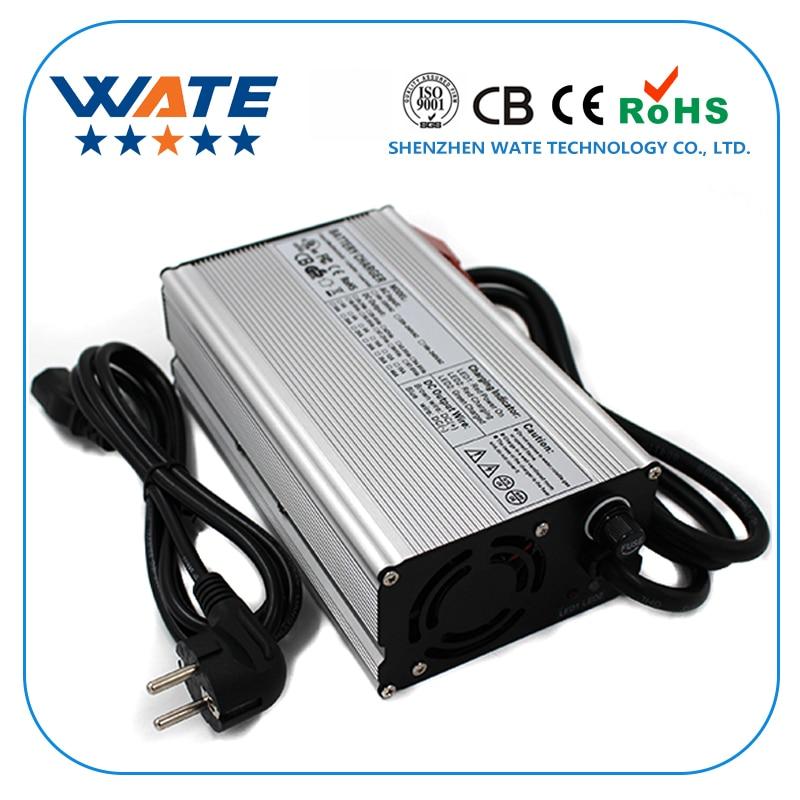 43,8 В 12A Зарядное устройство 36 В LiFePO4 Батарея Smart Зарядное устройство используется для 12 s 36 В LiFePO4 Батарея E- велосипед с вентилятором авто-стоп ...