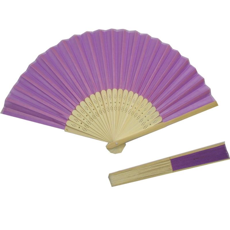 10pcs presentes de casamento dobráveis roxos do ventilador da - Para feriados e festas