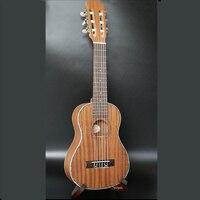 Гавайские гитары укулеле 28 дюймов Гавайский мини Гитары 6 Strings Ukelele Классическая головы музыкальный инструмент Электрический Гавайские гит