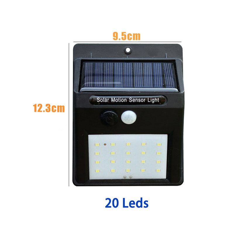 Led Solar Night Light PIR Motion Sensor Wall Light Waterproof 16/20/25/30 LEDs Energy Saving Outdoor Garden Security Solar Lamp 12