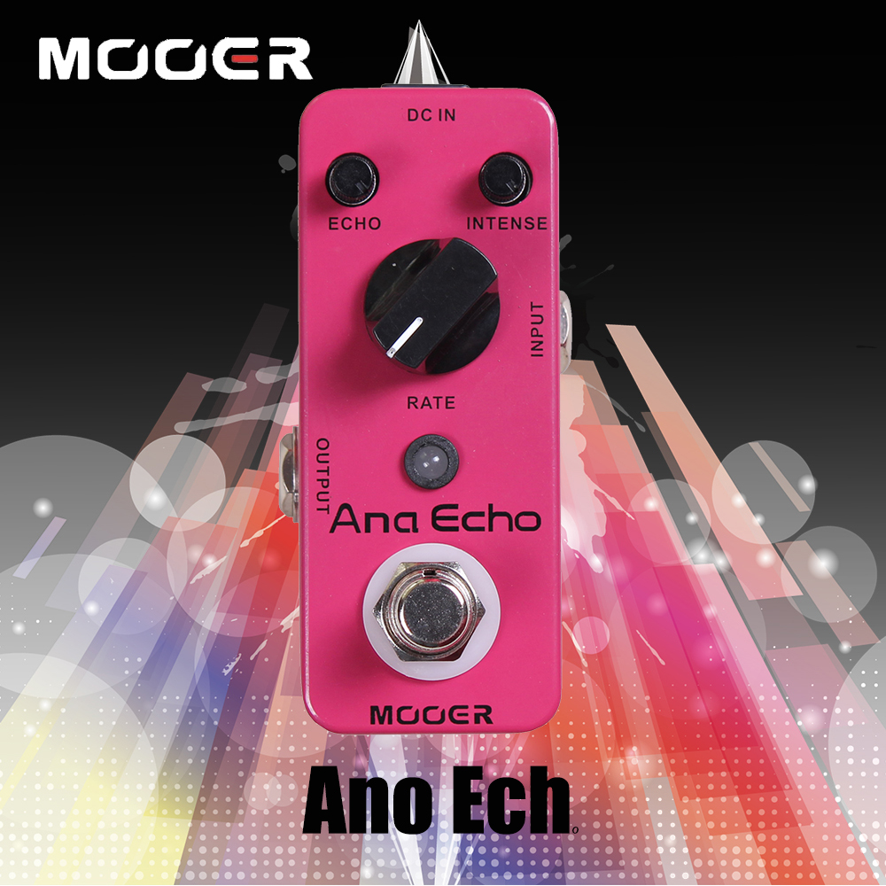 Mooer Mini Ana Echo Delay Electric Guitar Effect Pedal With Circuit, Warm, Clear, Smooth Analog Delay Sound True Bypass mooer mini ensemble king electric guitar effect pedal true bypass pure analog chorus sound