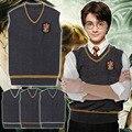 Crachá de alta Qualidade Adulto Harry Potter Camisola Colete Sonserina Gryffindor Ravenclaw Traje Cosplay Homem Colete Plus Size XXL