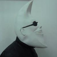 Personalized Halloween White Moon People Mask Villain Joke Funny Cosplay Masquerade Latex Adult Masks Personality Emoji