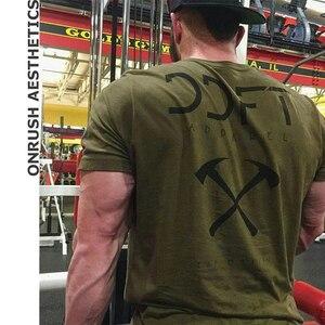 Мужская футболка для фитнеса, облегающая футболка с коротким рукавом для тренировок