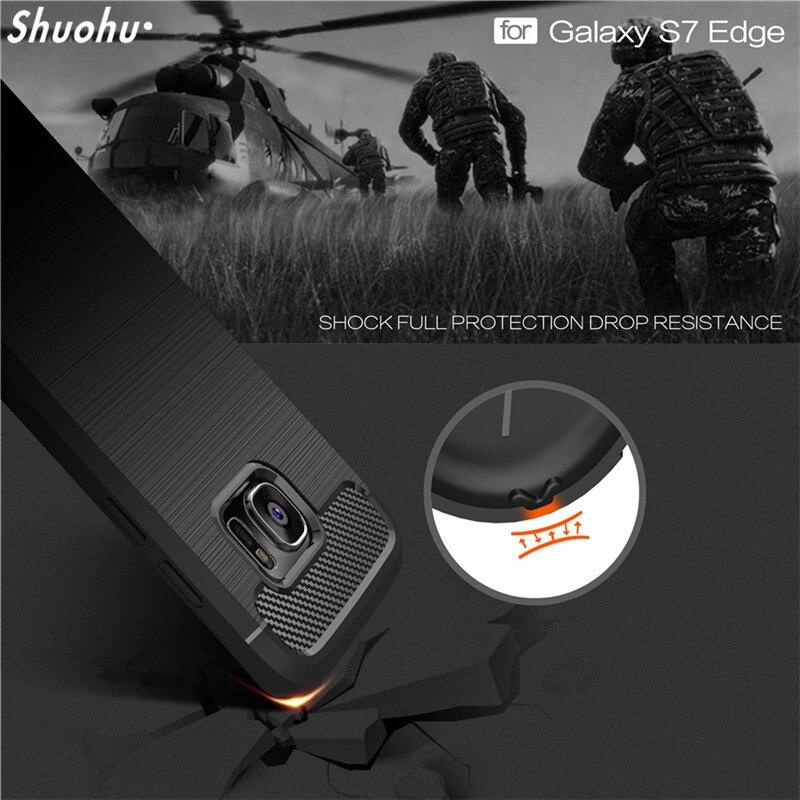 Galleria fotografica SHUOHU Luxury Soft Phone Bag Case for Samsung Galaxy S6 S7 Edge Case Silicone Shockproof for Samsung Galaxy S8 Plus Note 8 Cases
