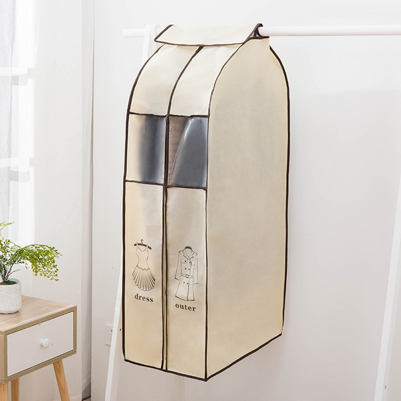WHISM Thickened Cover for Clothes Garment Bag Waterproof Jacket Suit bag Zippered Clothing Case Storage Bag Covers for Clothes