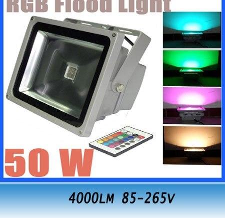 50W RGB LED Color Change Flood Light Lamp 4000LM 85-265V Outdoor Spotlight