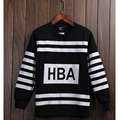 Winter Fleece Lined Side Mens Black HBA Hood by air Hoodies Print Hip Hop Cool Pullover Sweatshirt Male Hoodies Plus Size XXL