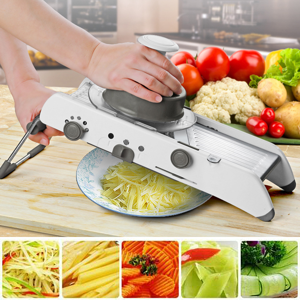 Kitchen Slicer Manual Vegetable Cutter Professional Grater With Adjustable Stainless Steel Blades Vegetable Kitchen Tool adjustable mandoline slicer professional grater