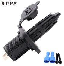 WUPP Car Cigarette Lighter Socket 12V- 24V Outlet Adapter With Fixed Panel For Refrigerator