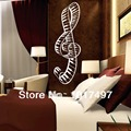 Free shipping New Design Creative piano music Musical notes the treble musical notation vinyl wall decal stickers,Y1004