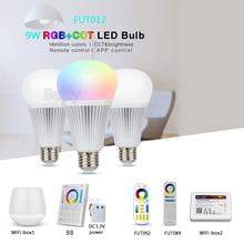 MiLight FUT012 E27 9W RGB+CCT LED Bulb Spotlight 110V 220V Full Color Remote Control Smart Bulb WiFi Compatible 4-Zone Remote milight 9w led lamp e27 rgb cct led bulb rgbww remote ibx1 rf remote wifi led spotlight light led light ac85 265v free shipping