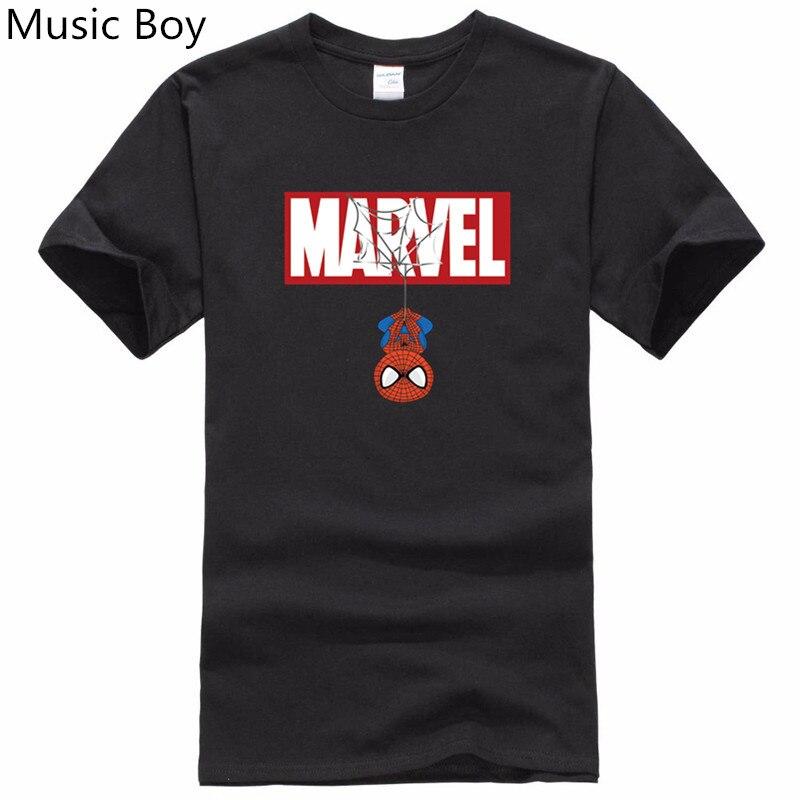 2017 New Brand Marvel   t     Shirt   men tops tees Top quality cotton short sleeves Casual men tshirt marvel   t     shirts   men free shipping