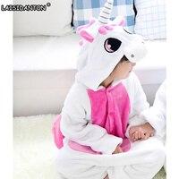 LAISIDANTON Wholesale Lovely Pink Unicorn Pajama For Baby Girl Onesie Child Unisex Animal Cosplay Costume Pajamas