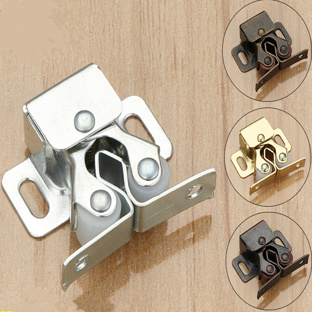 10 Set Top Quality Cabinet Catch Stopper Push To Open Cupboard Door Closer  Furniture Pulley Groove