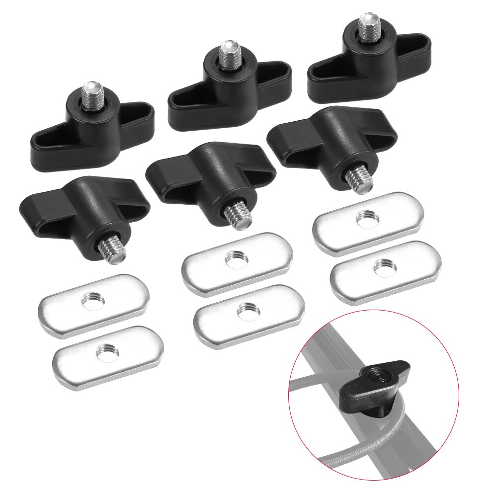# 6 Sets Stainless Steel Kayak Screws Nuts Hardware For Rail Canoe Kayak Racing Fishing Boat Accessories Track Mounting System