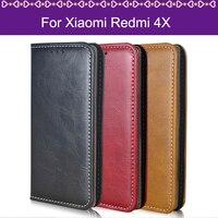 Lamocase Funda Case For Xiaomi Redmi 4X Case For Hongmi 4X Wallet Leather Flip Cover For