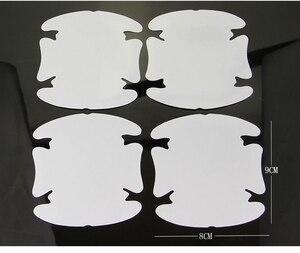 Image 3 - 4Pcs/LOT Handle Protection Film Car Sticker Exterior Transparent Sticker Automotive Auto Accessories Car Styling