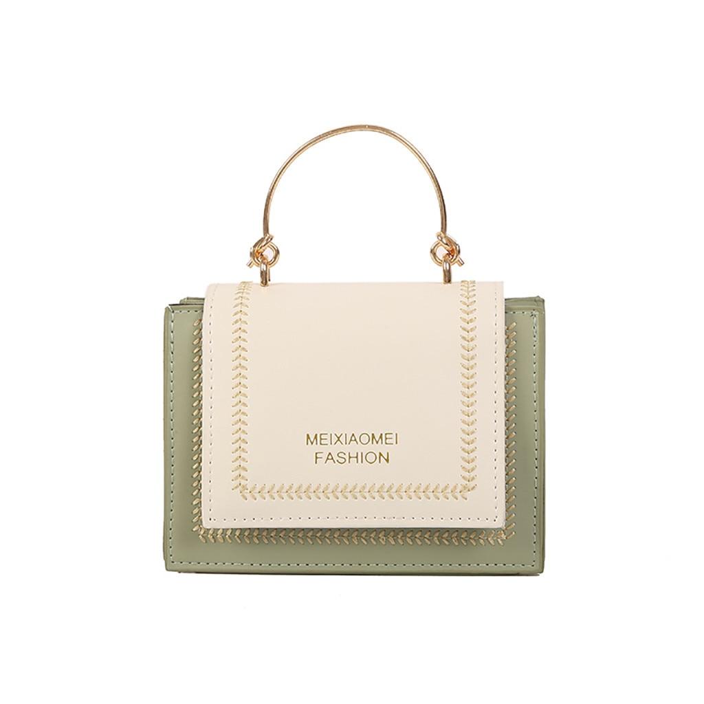 ISHOWTIENDA Handbag Chain Square-Bag Messenger-Bag Versatile Small Bolsa-Feminina Fashion