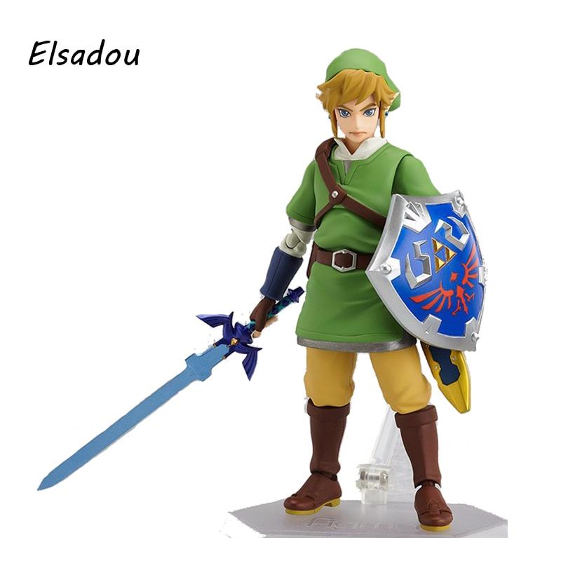 Elsadou Figma #153 Legend of Zelda Link Action Figure 19cm PVC Toy Doll world of warcraft wow pvc action figure display toy doll dwarven king magni bronzebeard